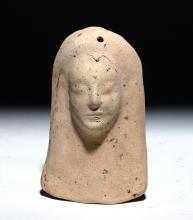 Magna Graecia Terracotta Votive Plaque of a Goddess