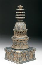 Gandharan Schist Stupa Model