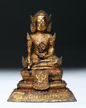 19th C. Thai Ratanakosin Gilded Bronze Prince Siddharta