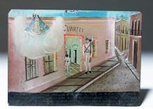19th C. Mexican Ex Voto - Prison Scene, ex-Historia