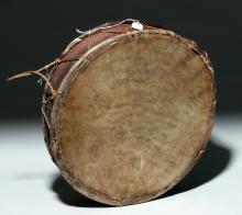 Oaxacan Rawhide and Bark Hoop / Frame Drum, ex-Historia