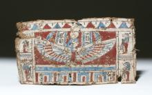 Egyptian Cartonnage Panel w/ Isis - Gesso & Linen
