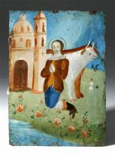 19th C.  Mexican Retablo San Isidro Laborador, Historia