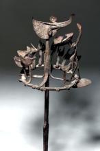 Rare 19th C. Yoruba Ceremonial Iron Staff