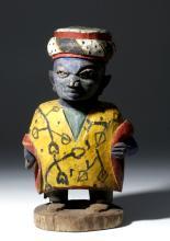 Early 20th C. Yoruba Painted Wood Headdress