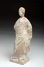 Beautiful Canosan Terracotta Female Statuette