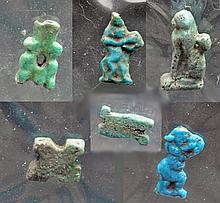 Group of 6 Egyptian Faience Amulets