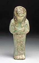 Larger Egyptian Faience Ushabti