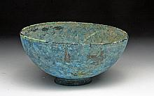 Greek Bronze Bowl with Amazing Patina!