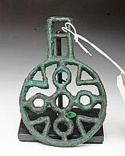 Bactrian Bronze Openwork Pendant