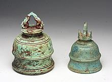 Lot of 2 Khmer Bronze Bells