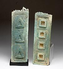 Lot of 2 Cambodian Bronze Furniture Panels