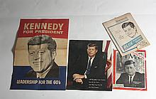 Lot of 4 Vintage JFK Memorabilia Pieces