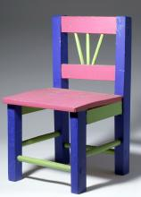 20th C. Mexican Painted Wood Child's Chair