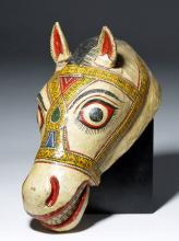 Early 20th Century Indian Horse Head Mask
