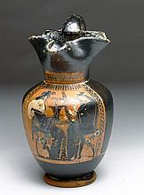 Greek Attic Oinochoe - Dionysyus and Ariadne