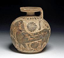 Large Greek Italo-Corinthian Aryballos