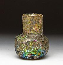 Beautifully Iridescent Roman Glass Unguent