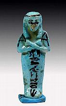 Egyptian Faience Shabti for Tayuheryt