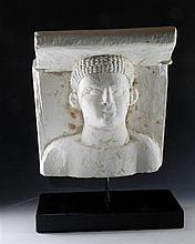 Romano Egyptian Limestone Head