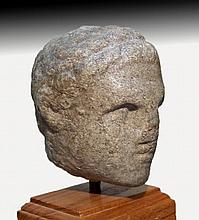 Egyptian Marble Head of Ptolemaic Prince / King
