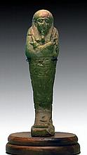 Egyptian Late Period Faience Ushabti (translated)