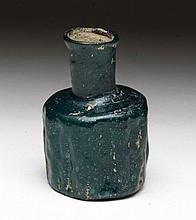 Late Roman / Byzantine Teal Green Glass Vessel
