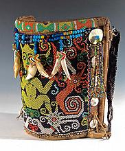 Dayak Beaded Baby Carrier