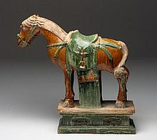 Ming Dynasty Glazed Horse