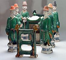 Group of 9 Chinese Ming Dynasty Royal Processional Attendants