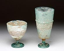 Pair of Roman Glass Cups