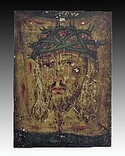 Antique Mexican Retablo, Veronica's Veil