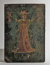Antique Mexican Retablo, Santa Librata