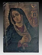 Antique Mexican Retablo, Mater Dolorosa