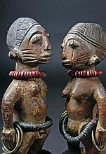 Matched Pair Ere' Ibeji Twin Dolls