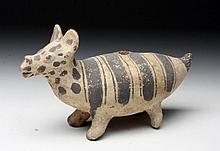 Chancay Terracotta Llama Effigy Figure