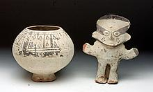 Chancay Female Figure and Bowl