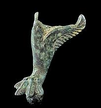 Ancient Roman Bronze Claw Foot from a Vessel