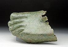 Roman Bronze Foot Left Foot, Near Lifesize!