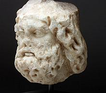 Roman Marble Head of Jupiter (Zeus)