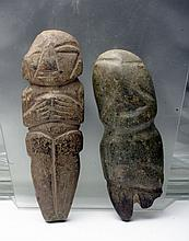 Lot of 2 Mezcala Stone Figures