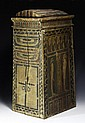 Egyptian Wooden Polychrome Canopic Box