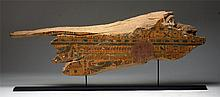 Large Egyptian Wooden Sarcophagus Section