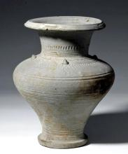 Fine / Large Korean Silla Dynasty Greyware  Jar