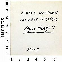 Art Book Liquidation Sale Marc Chagall Musee National Message Biblique Paris