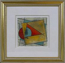 Framed Abstract Original Geometric Art Signed Rare Modern Art Sale