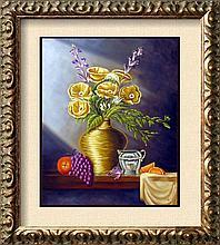 Vase Realistic Painting on Canvas Fantastic Bob Shepherd Art Sale