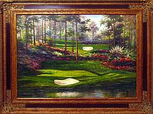 GOLF Painting Signed Framed ORIGINAL Landscape Scenic ART Sports Dealer Liquidation Great Value Popular Artist