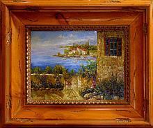 Framed European Landscape Colorful Textured LIQUIDATION ART Dealer Liquidation Great Value Popular Artist