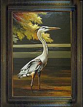 Wildlife BIRD ORIGINAL Realism Landscape Painting Museum Quality Painting Impressionism Art
